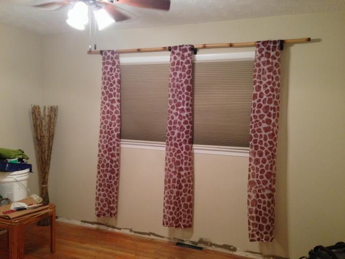Cheetah sheer curtains