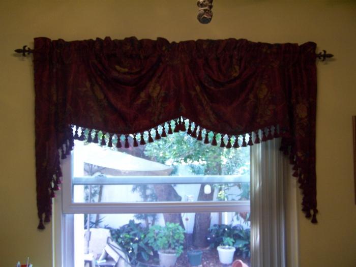 Curtains Ideas austrian valances curtains : Jewel Valance and Jewel Austrian Valance - Swags Galore - Kitchen ...